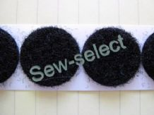 10 pairs of Black Hook and Loop adhesive dots coins Strong large 22mm diameter sticky